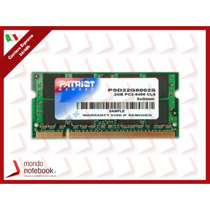 DDR2 x NB SO-DIMM patriot 2GB 800MHz - PSD22G8002S