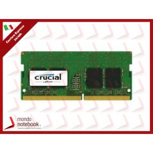 DDR4 x NB SO-DIMM CRUCIAL 4Gb 2400 Mhz - CL17 SingleRank - CT4G4SFS824A