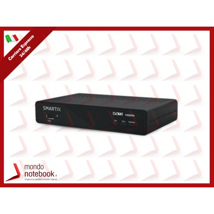 DECODER ATLANTIS SMARTIX SM20-DH16 DIGITALE TERRESTRE DVBT/DVBT2 HD,registraz fino a...