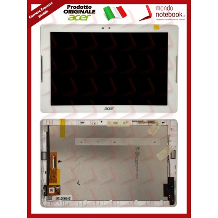 Display Completo di Touchscreen e cornice Originale Acer Iconia B3-A32 Bianco