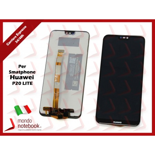 Display LCD con Touch Screen Compatibile Huawei P20 LITE ANE-LX1 LX3 NOVA 3E VETRO (Nero)