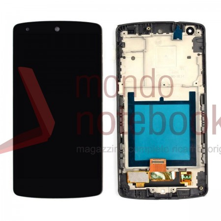 Display LCD con Touch Screen Compatibile LG Google Nexus 5 D820 D821 con Frame