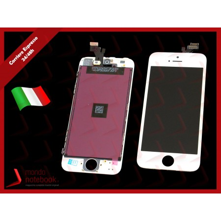Display LCD con Touch Screen Compatibile per APPLE Iphone 5 (BIANCO) A+++