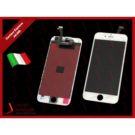Display LCD con Touch Screen Compatibile per APPLE Iphone 6 (BIANCO) A