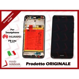 Display LCD con Touch Screen e Batteria Originale Huawei P8 Lite 2017 (PRA-L31) (NERO)