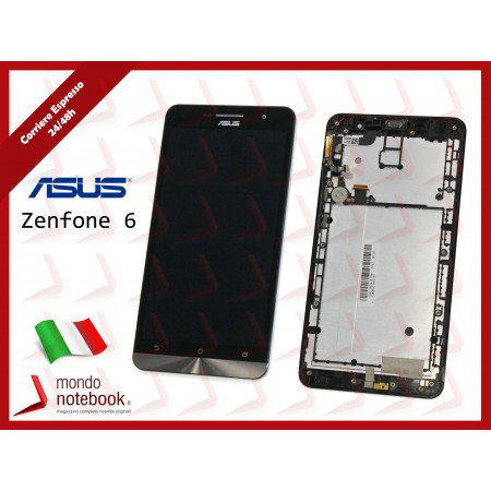 Display LCD con Touch Screen Originale Asus ZenFone 6 A600CG T00G con Frame...