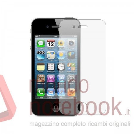 Pellicola in VETRO VETRINO TEMPERATO per Apple iPhone 4 4S