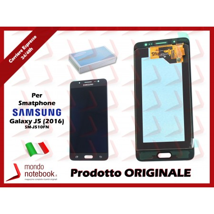 Display LCD con Touch Screen Originale SAMSUNG Galaxy J5 (2016) SM-J510FN (Nero)