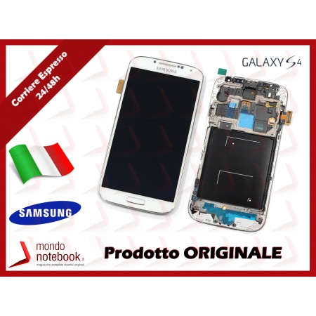Display LCD con Touch Screen Originale SAMSUNG Galaxy S4 GT-i9505 (Bianco)