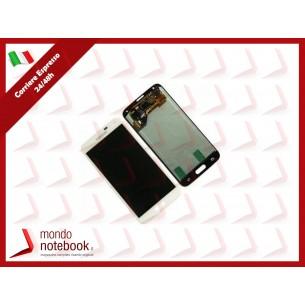 Display LCD con Touch Screen Originale SAMSUNG Galaxy S5 SM-G900F (Bianco)