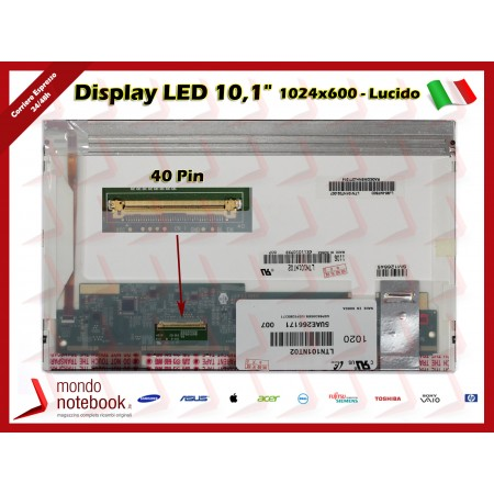 "Display LED 10,1"" (1024x600) WSVGA 40 Pin SX (LUCIDO)"
