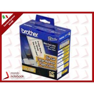 ETICHETTE BROTHER DK-11208 CONF.400PZ ADESIVE 38x90mm X QL-500 QL-550 QL-560 QL-570...
