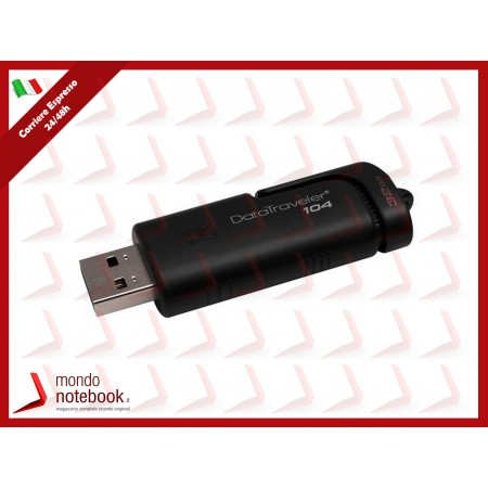 "FLASH DRIVE KINGSTON USB 2.0 32GB ""DataTraveler"" - DT104/32GB"