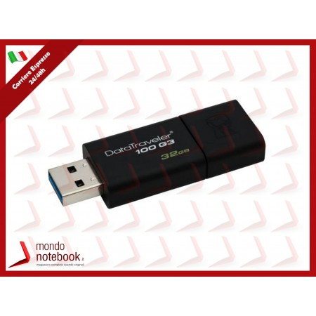 "FLASH DRIVE KINGSTON USB 3.0 32GB ""DataTraveler"" - DT100G3/32GB"