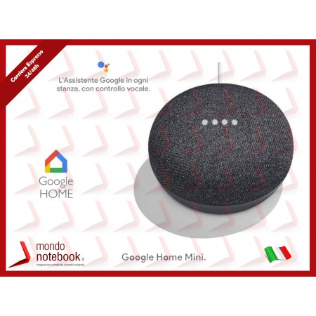 Google Home Mini GA00216-IT (Grigio Antracite)