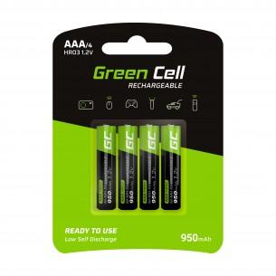 Green Cell 4x Batteria AAA HR03 950mAh