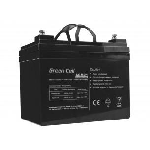 Green Cell AGM Batteria 12V 33Ah
