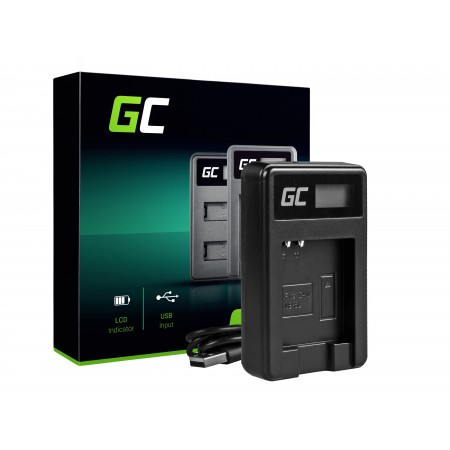 Green Cell Batteria Charger CB-2LY per Canon NB-6L/6LH, PowerShot SX510 HS, SX520 HS,...