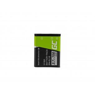 Green Cell Batteria EN-EL10 Nikon Coolpix S60, S80, S200, S210, S220, S500, S520, S3000...