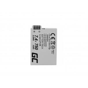 Green Cell Batteria LP-E8 ® Canon EOS Rebel T2i, T3i, T4i, T5i, EOS 600D, 550D, 650D,...