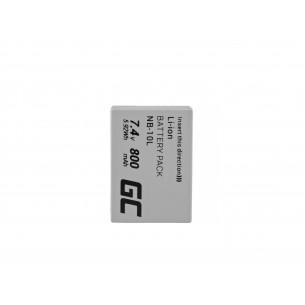 Green Cell Batteria NB-10L ® Canon PowerShot G15, G16, G1X, G3X, SX40 HS, SX40HS, SX50...