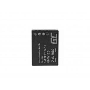 Green Cell Batteria NP-W126 Fujifilm FinePix HS30EXR, HS33EXR, HS50EXR, X-A1, X-A3,...