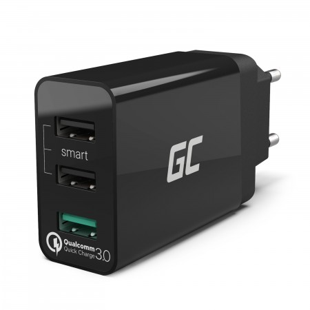Green Cell Charger 3xUSB Quick Charge 3.0