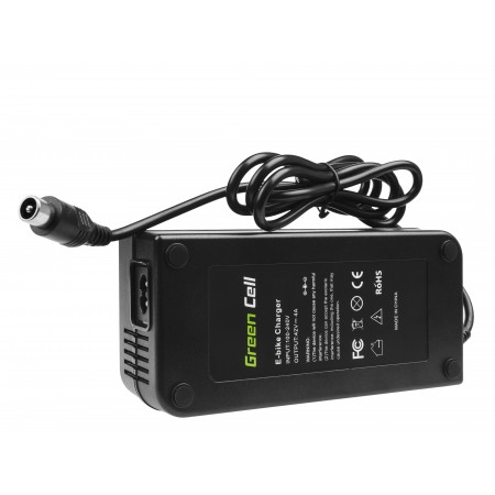 Green Cell Charger 42V 4A (RCA) per EBIKE batteries 36V