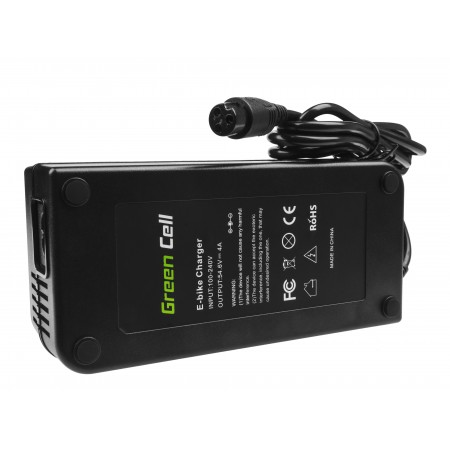 Green Cell Charger 54.6V 4A (3 pin) per EBIKE batteries 48V