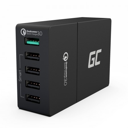 Green Cell Charger 5xUSB Quick Charge 3.0