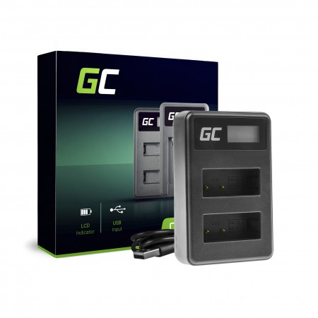 Green Cell Charger LC-E17 Canon LP-E17, EOS 77D, 750D, 760D, 8000D, M3, M5, M6, Rebel...
