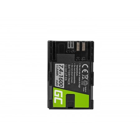Green Cell LP-E6 Camera Batteria per Canon EOS 70D, 5D Mark II/ III, 80D, 7D Mark II,...