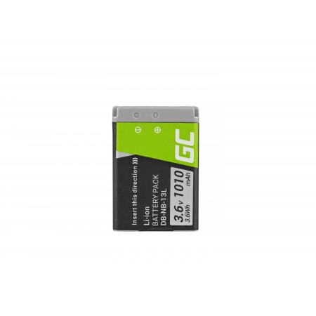 Green Cell NB-13L Camera Batteria per Canon PowerShot G5 X, G7 X, G7 X Mark II, G9 X,...
