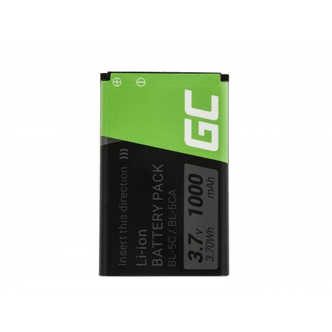 Green Cell Phone Batteria BP-5C per Nokia 1200 1800 2600 3610 6600 E50 N91
