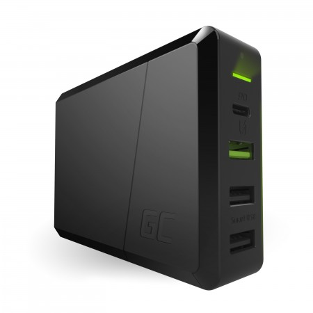 Green Cell Power Source 75W 4-port charger USB-C PD with ultrabook charging and Ultra...