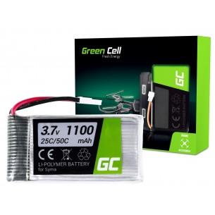 Green Cell RC Batteria per Syma X5SC X5SW Explorers 3.7V 1100mAh