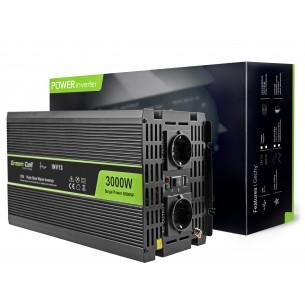Green Cell ® Voltage Car Inverter 12V to 230V, 3000W/6000W, Full Sine Wave