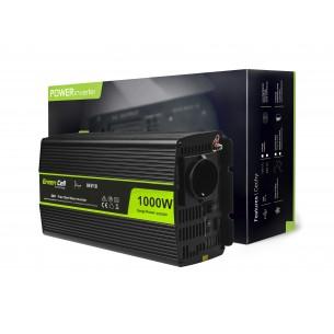 Green Cell ® Voltage Car Inverter 24V to 230V, 1000W Full Sine Wave