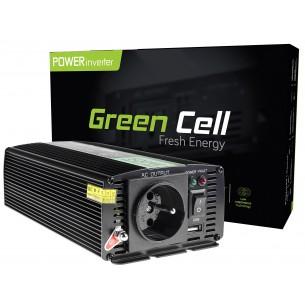 Green Cell ® Voltage Car Inverter 24V to 230V, 500W/1000W