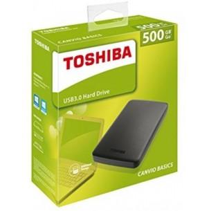 Hard Disk Esterno TOSHIBA USB 3.0 500GB 2,5 canvio basics