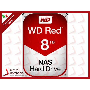 "HD WD SATA3 8TB 3.5"" RED INTELLIPOWER  256mb cache 24x7 - NAS HARD DRIVE - WD80EFAX"