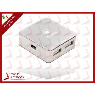 HUB ATLANTIS P014-UH28 4 porte USB-2.0. Piccolo e portatile per PC e Notebook....