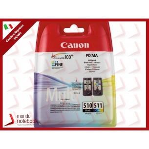 INK CANON PG-510 + CL-511 Nero 9ML X PIXMA MP260,MP270,MP280,MP230,MP490,MP495 MX320...