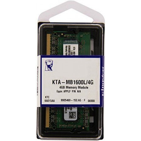 RAM SO-DIMM NOTEBOOK DDR3 4GB PC-12800 Non-ECC 1600MHz CL11 KINGSTON - APPLE QUALIFIED