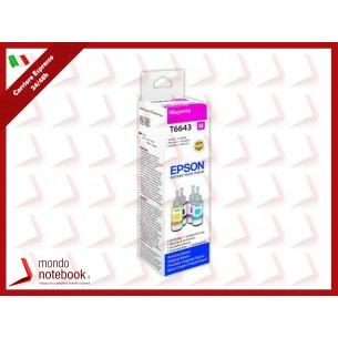 INK EPSON C13T664340 MAGENTA Flacone da 70ml X EcoTank L300 L355 L555 ET-2500 ET-2550...