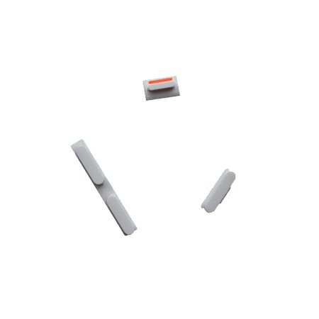 iPhone 5C Side Button Key Sets - 3 Pieces - Silver White