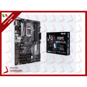 MB ASUS PRIME H370-PLUS LGA1151 (COFFEE LAKE) 4DDR4 VGA+HDMI+DVI 2*PCIe 2*PCI M2 ATX