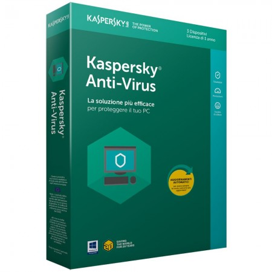 Kaspersky Antivirus 2018 Licenza per 3 Dispositivi 1 Anno