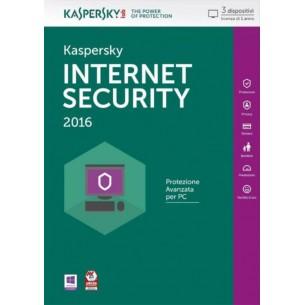 Kaspersky Internet Security 2016 3 Dispositivi 1 Anno