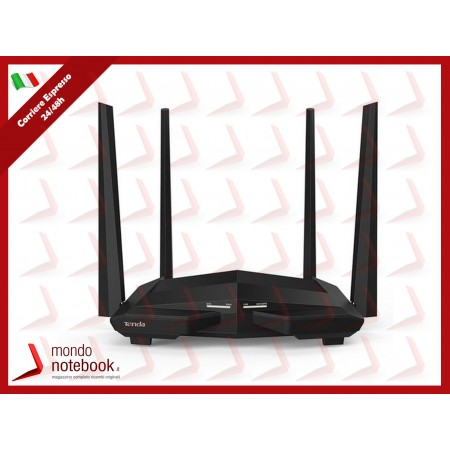 ROUTER TENDA AC1200 AC10U WIRELESS DUAL BAND 867Mbps a5GHz+300Mbps a2.4GHz 802.11ac, 1P...